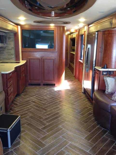 Inside view of RV